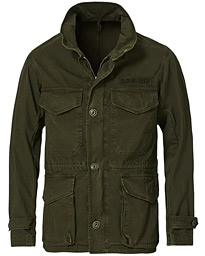 Cotton Gabardine Field Jacket Olive