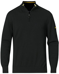 Cotton Half Zip Black