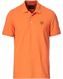 Plain Pique Polo Shirt Burnt Sienna Marl