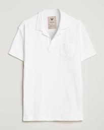 Short Sleeve Terry Polo White