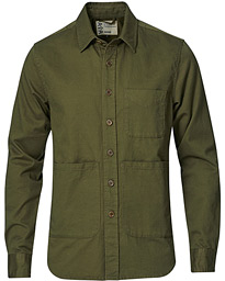 Heritage Twill Utility Shirt Military