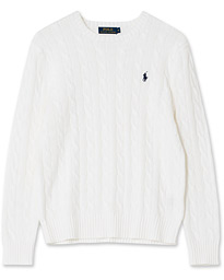 Polo Ralph Lauren Cotton Cable Pullover Collection White M