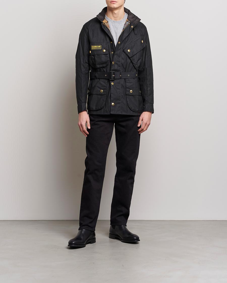 57b61f487e9a Barbour International Original Jacket Black hos CareOfCarl.com
