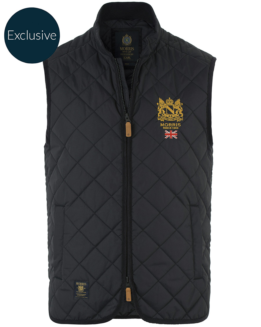 ae5b57ca68b4 Morris Carl Quilted Vest Dark Navy Made To Order hos CareOfCarl.com