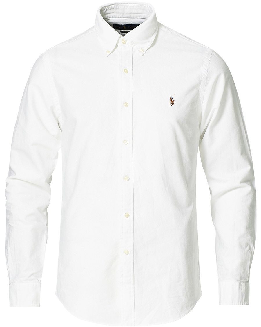 026cdaef2440 Polo Ralph Lauren Slim Fit Shirt Oxford Vit hos CareOfCarl.com