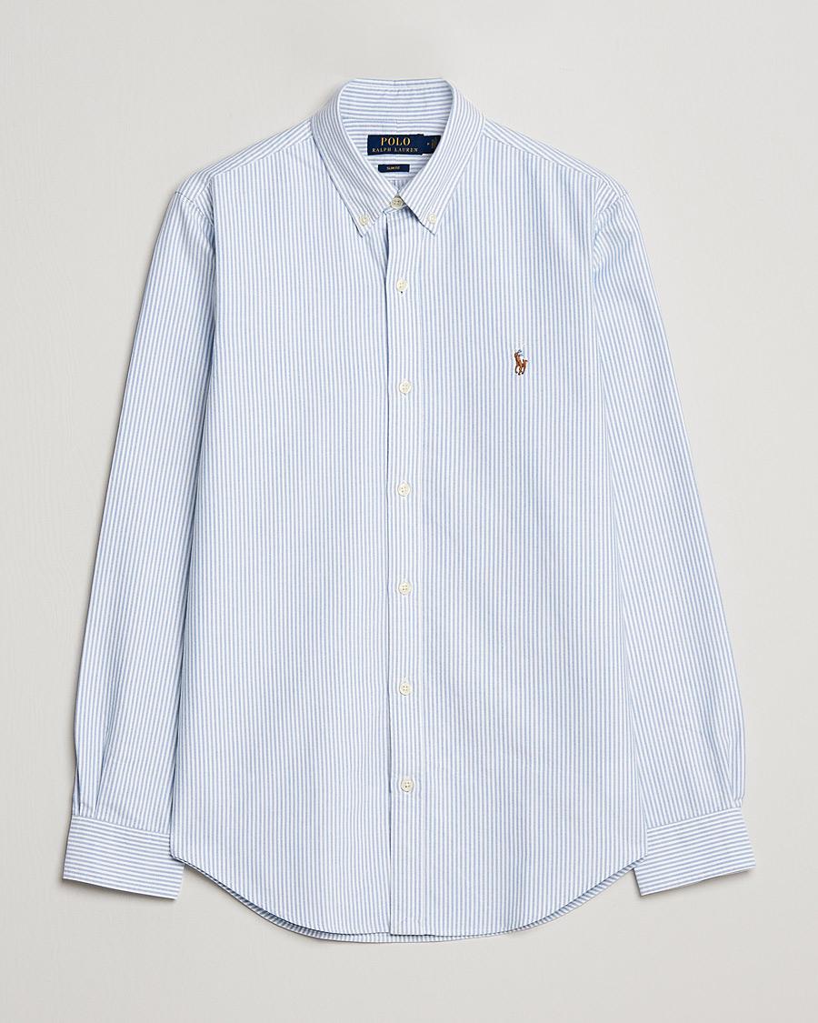 5f6dcbf7b213 Polo Ralph Lauren Slim Fit Shirt Oxford Stripes Blue hos CareOfCa
