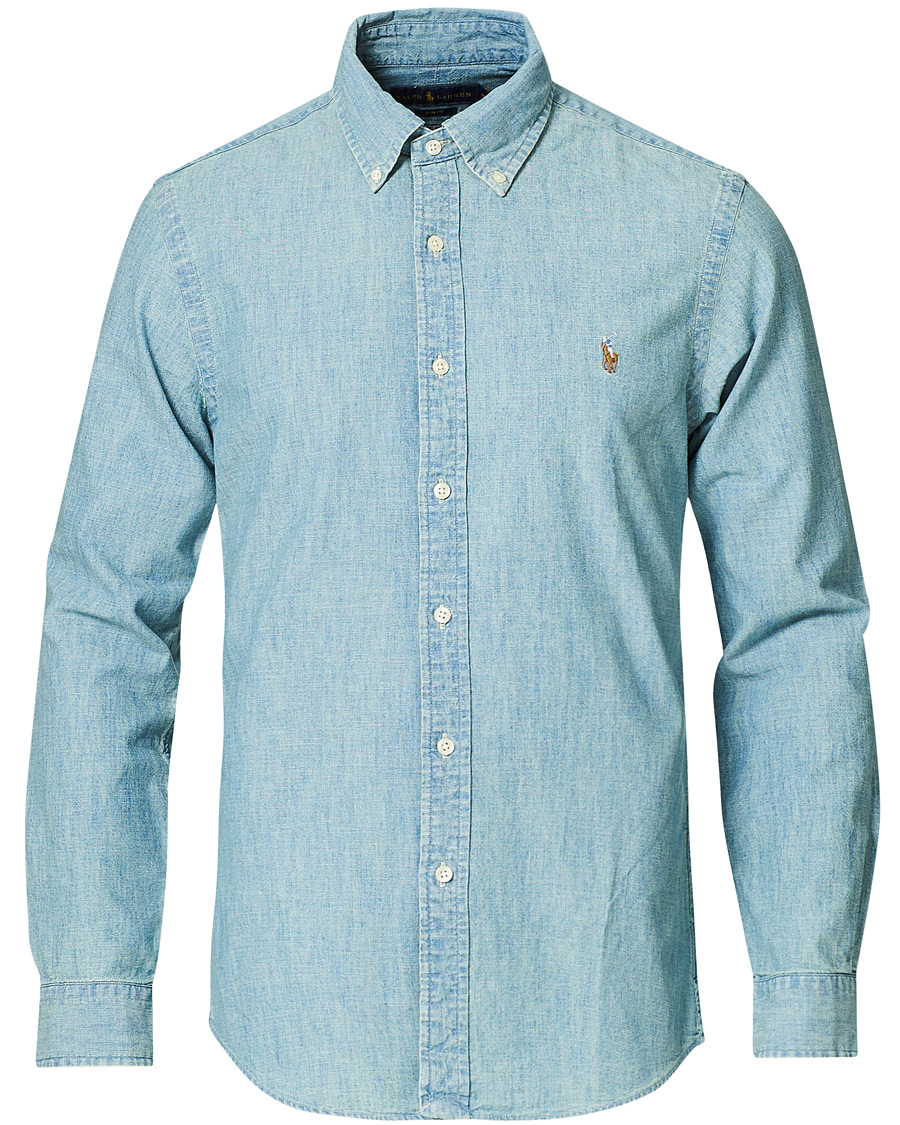 Polo Ralph Lauren Slim Fit Chambray Shirt Washed hos CareOfCarl.c bf54db81d260f