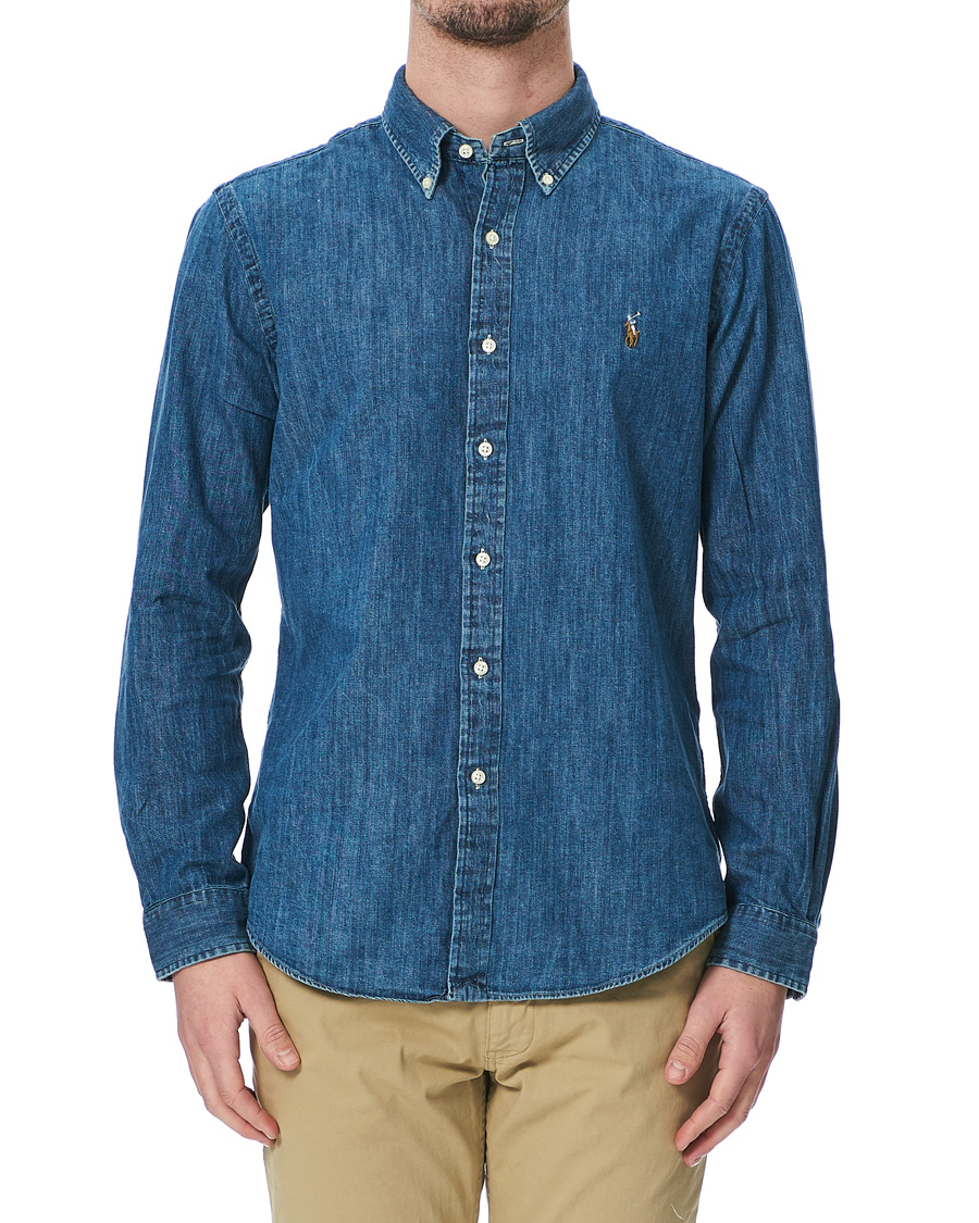 b11fcf2a40 Polo Ralph Lauren Shirt Denim Dark Wash hos CareOfCarl.c