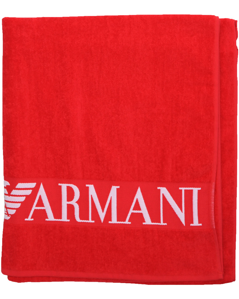 Emporio Armani Handduk Red - Köp Emporio Armani på CareOfCarl.com 663fe09a1db09