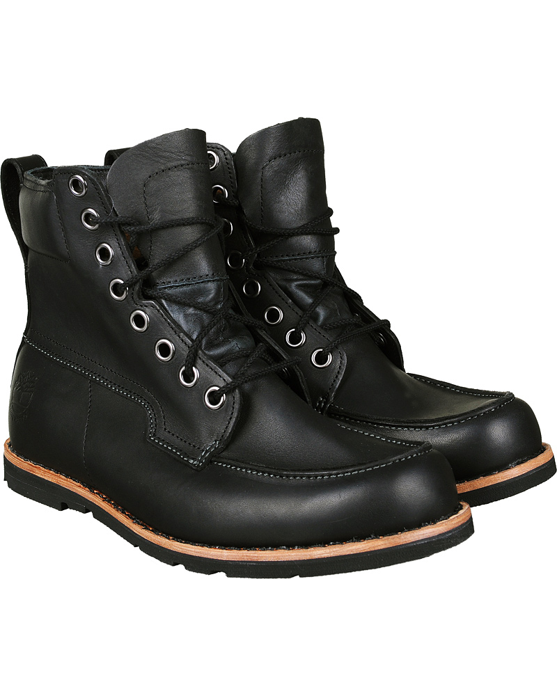b9b41a0776a Timberland Moc Toe Boot Leather Black hos CareOfCarl.com