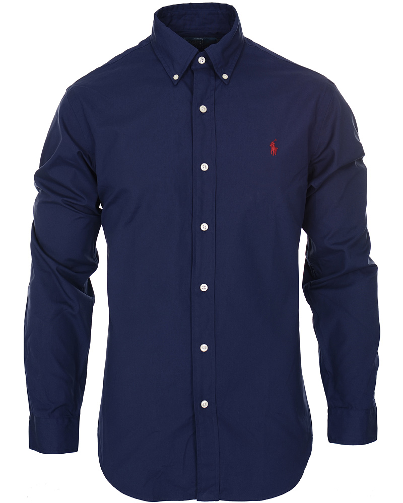 ab7c43d90 Polo Ralph Lauren Slim Fit Shirt Poplin Windsor Navy hos CareOfCa