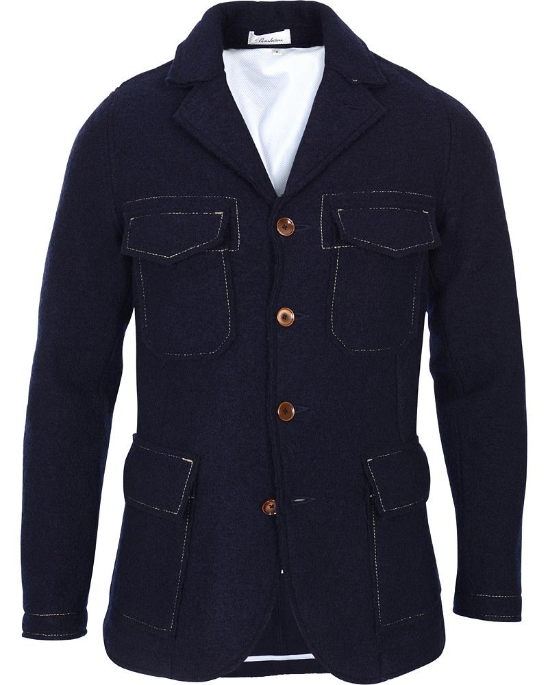 Stenströms Wool Jacket Navy hos