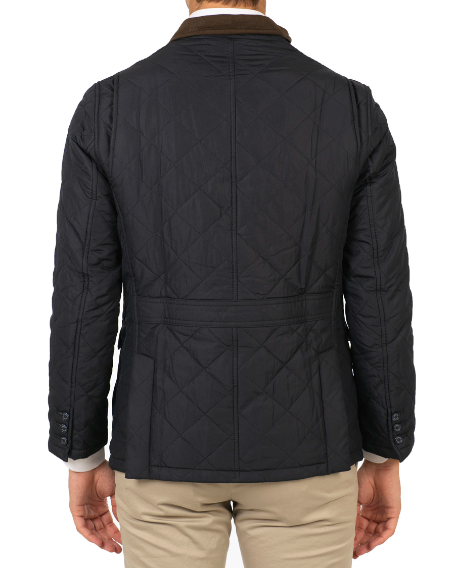 Barbour Lifestyle Quilted Lutz Jacket Navy Hos Careofcarl Com