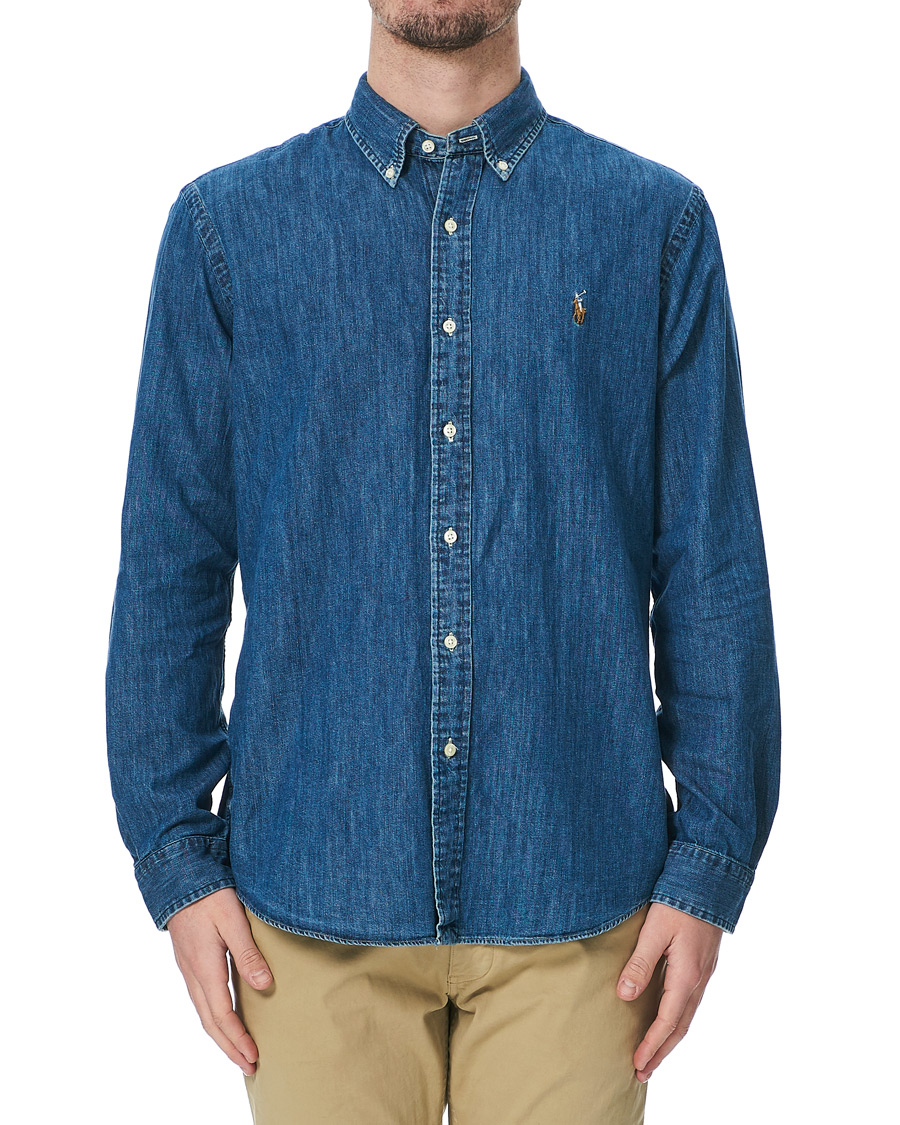 9609f1d070 Polo Ralph Lauren Custom Fit Shirt Denim Dark Wash hos CareOfCarl