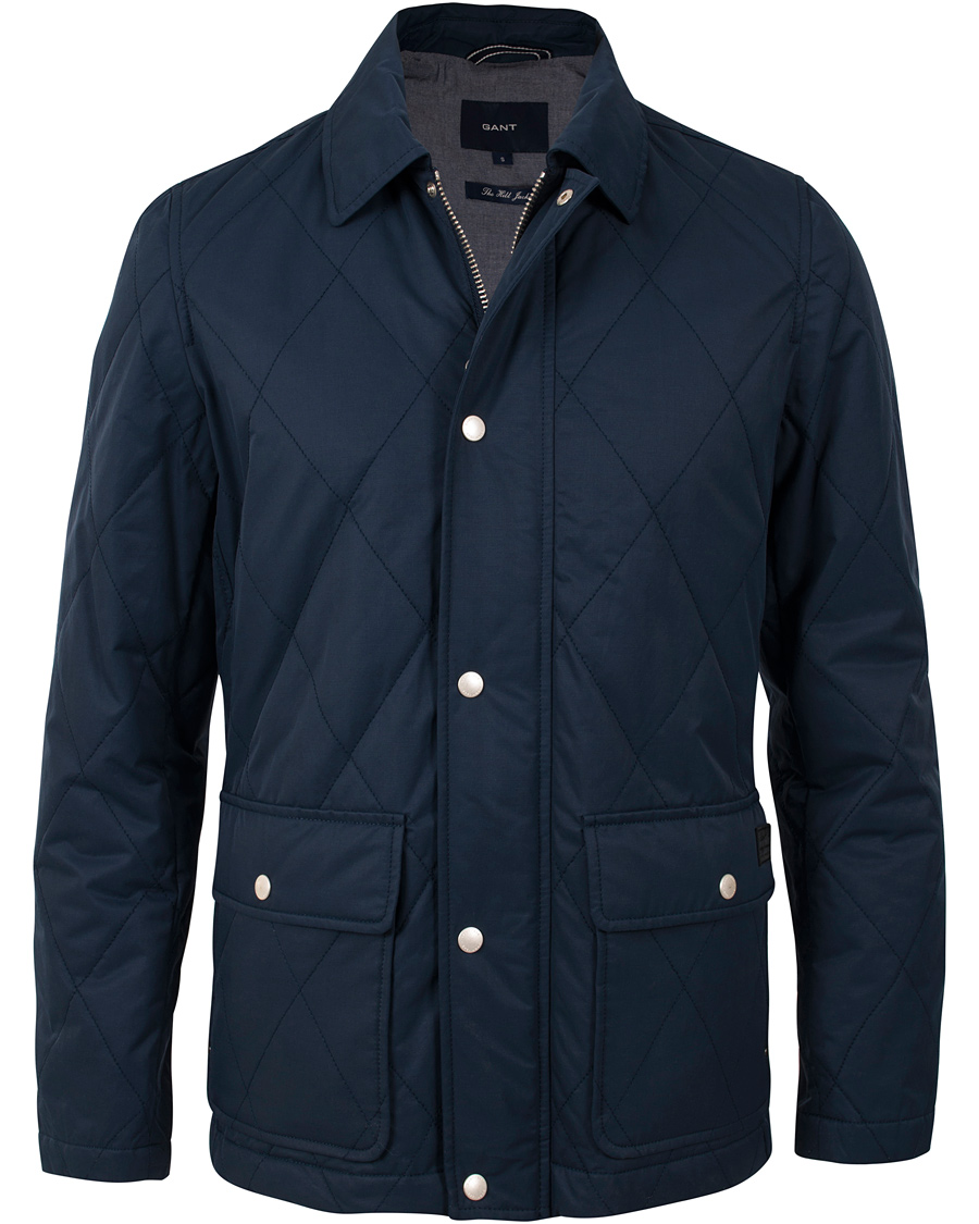 GANT The Preppy Down Jacket Storm Blue i gruppen Jackor