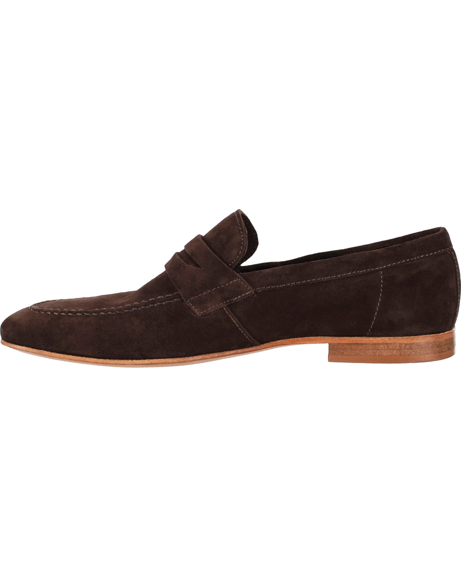 sells promo code available Tiger of Sweden Viktor 01 Suede Loafer Dark Chocolate hos CareOfC