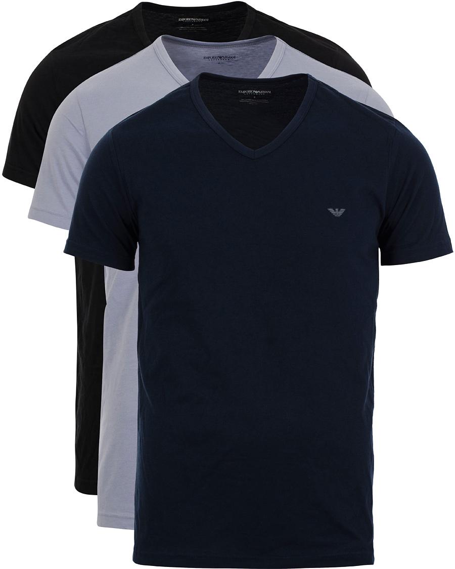 Emporio Armani 3-Pack T-shirt Regular Fit Navy Blue Black hos Car 237a84414c789