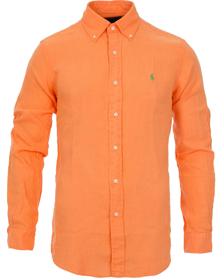 ralph lauren orange skjorta