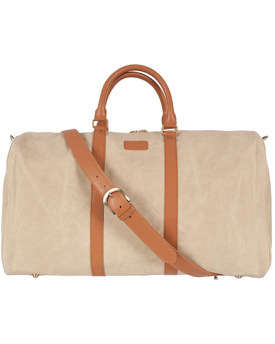 fdc93fde77e GANT Rugger Canvas Weekend Bag Wheat hos CareOfCarl.com