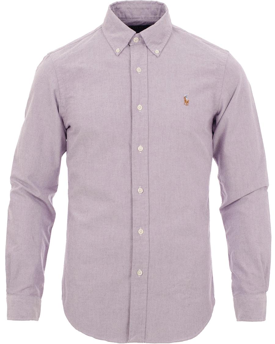 223e452f Polo Ralph Lauren Slim Fit Oxford Shirt Crimson Purple hos CareOf