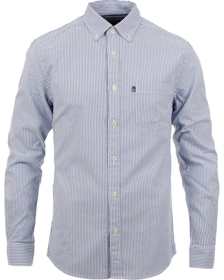 Lexington Kyle Button Down Oxford Stripe Shirt Bright White Oxford Blue 31347ec02711d