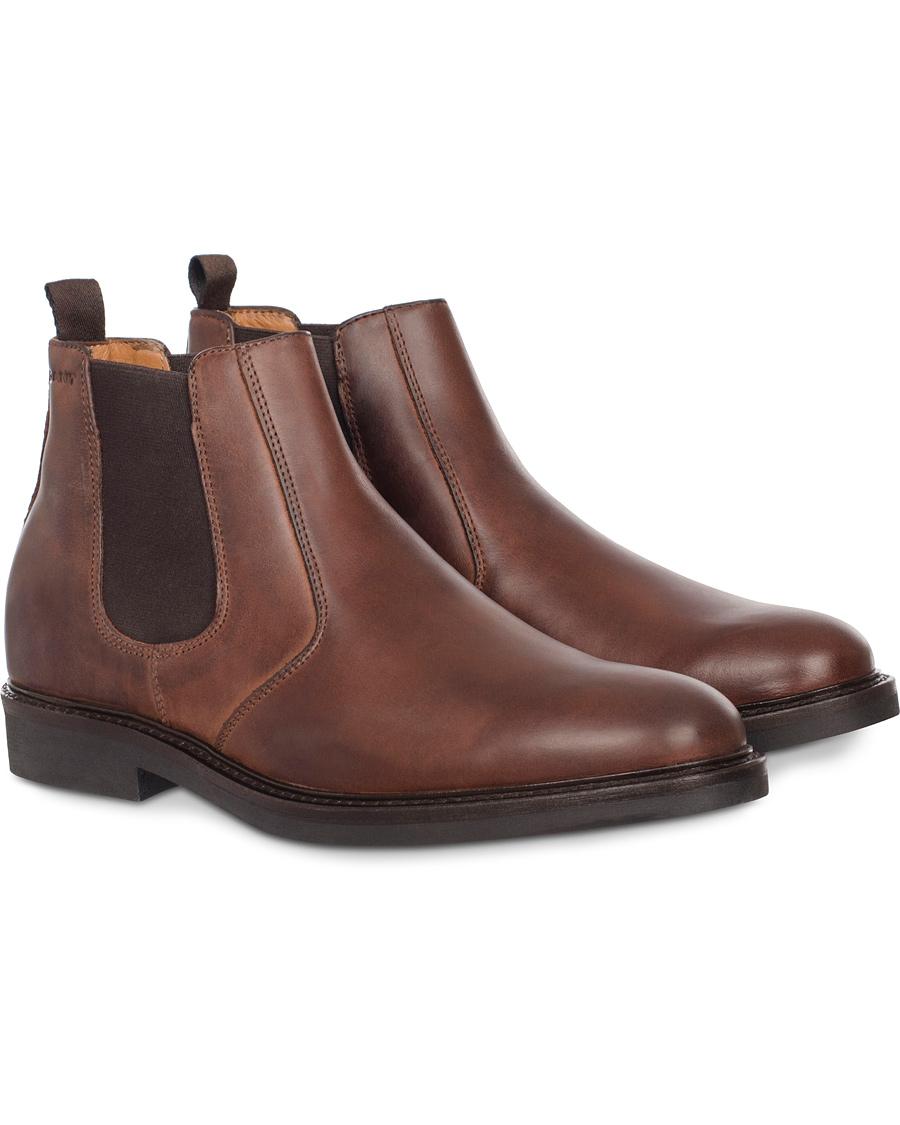84e4264ba6 GANT Spencer Chelsea Boot Calf Dark Brown hos CareOfCarl.com