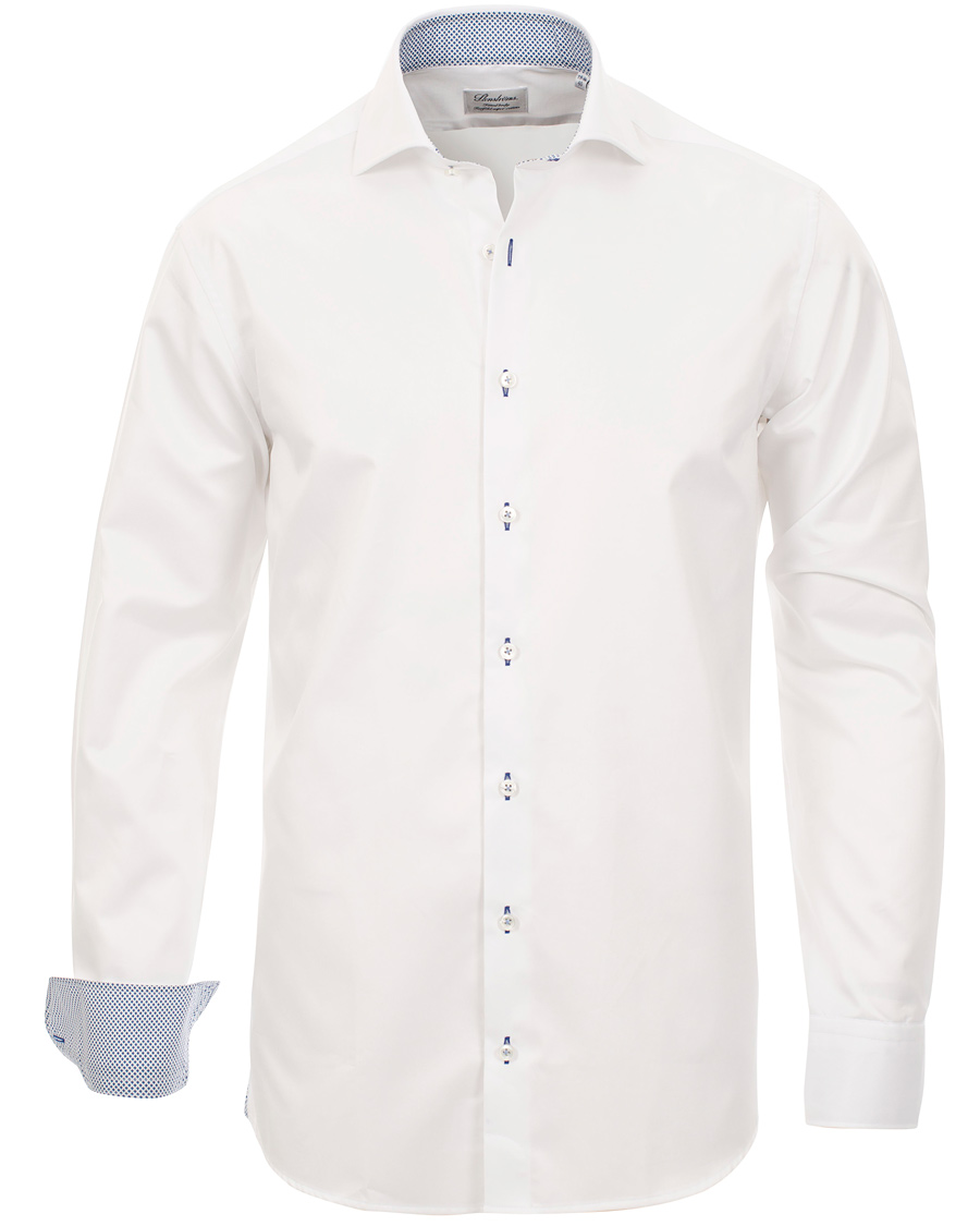 Stenströms Fitted Body Plain Contrast Shirt White hos CareOfCarl. 34ffd6ca46570