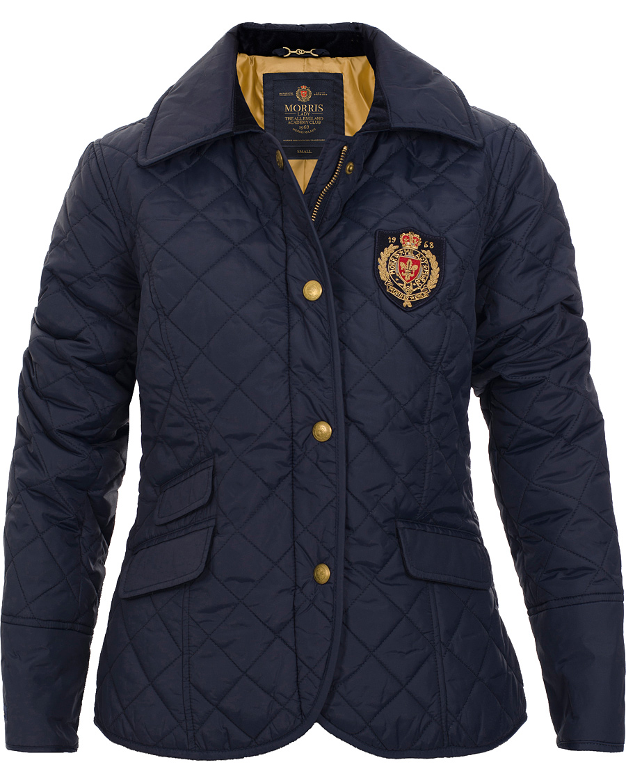 Morris Woman Audrey Quilted Jacket Navy hos