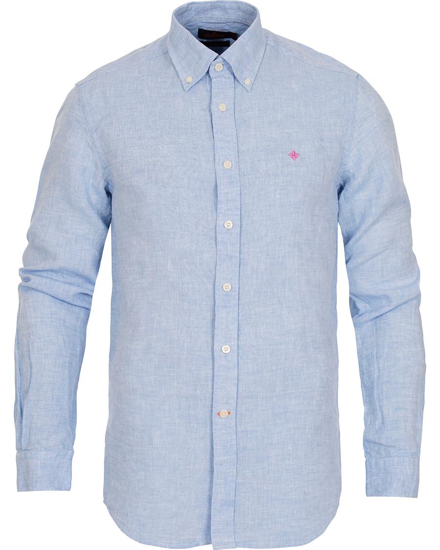 a73da803 Morris Douglas Linen Shirt Light Blue hos CareOfCarl.com