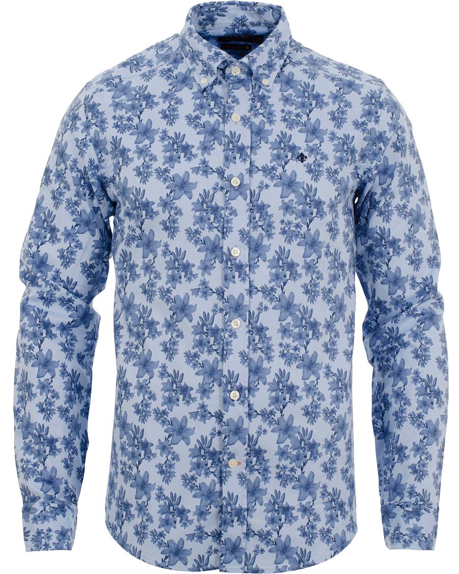 8be8e6f2 Morris Douglas Printed Flower Shirt Light Blue hos CareOfCarl.com