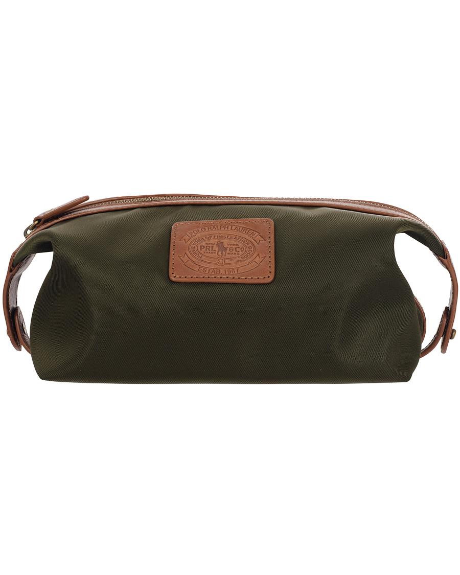 c7d9f05884 Polo Ralph Lauren Nylon Shaving Kit Bag Olive hos CareOfCarl.com