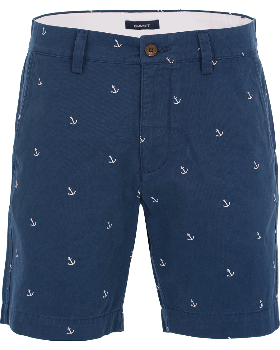 low priced c4e3f eb769 GANT Anchor Shorts Indigo Blue hos CareOfCarl.com