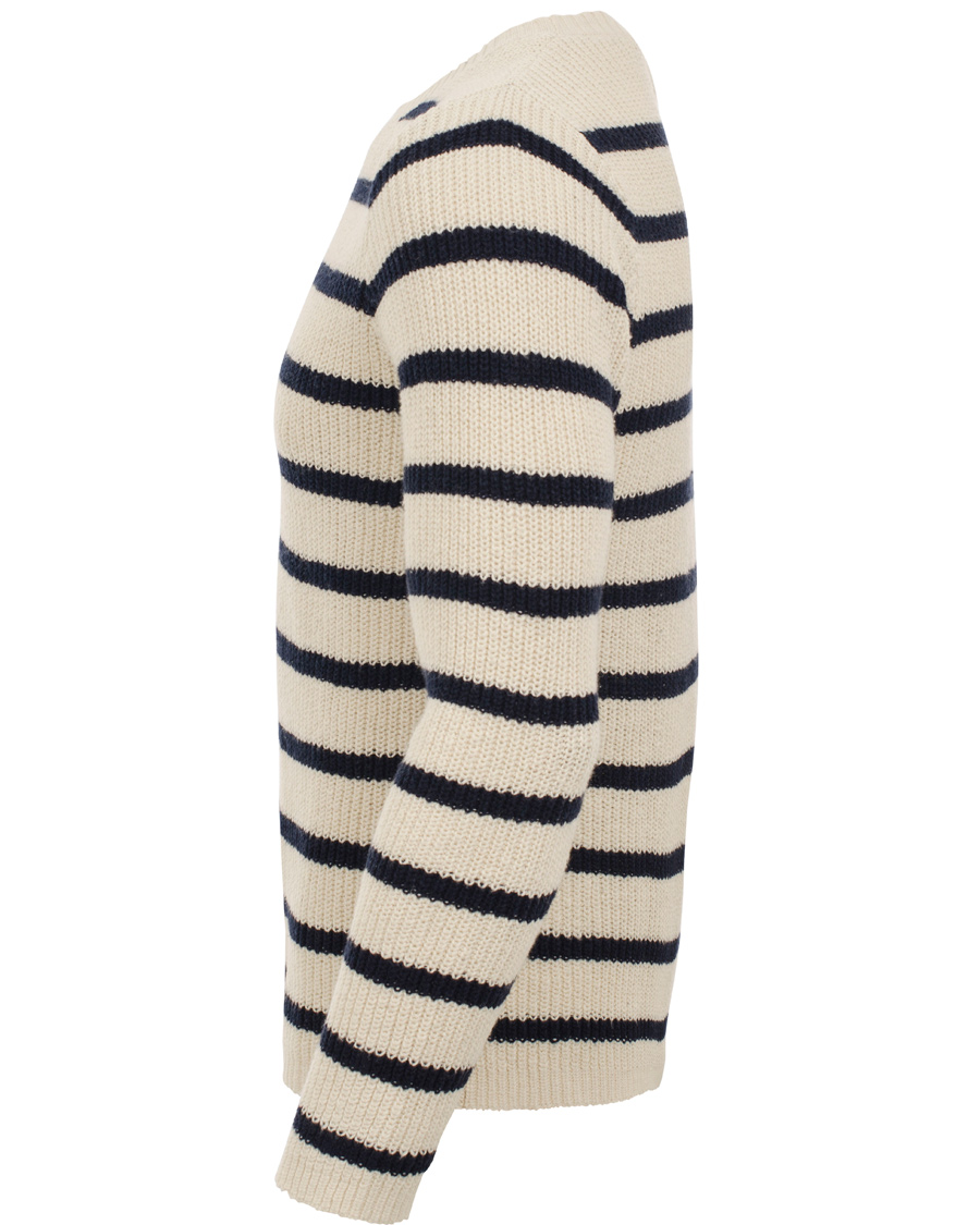 GANT Rugger The Breton Stripe Sweater Pearl hos