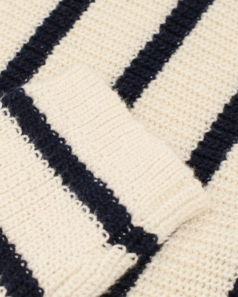 GANT Rugger The Breton Stripe Sweater Pearl hos