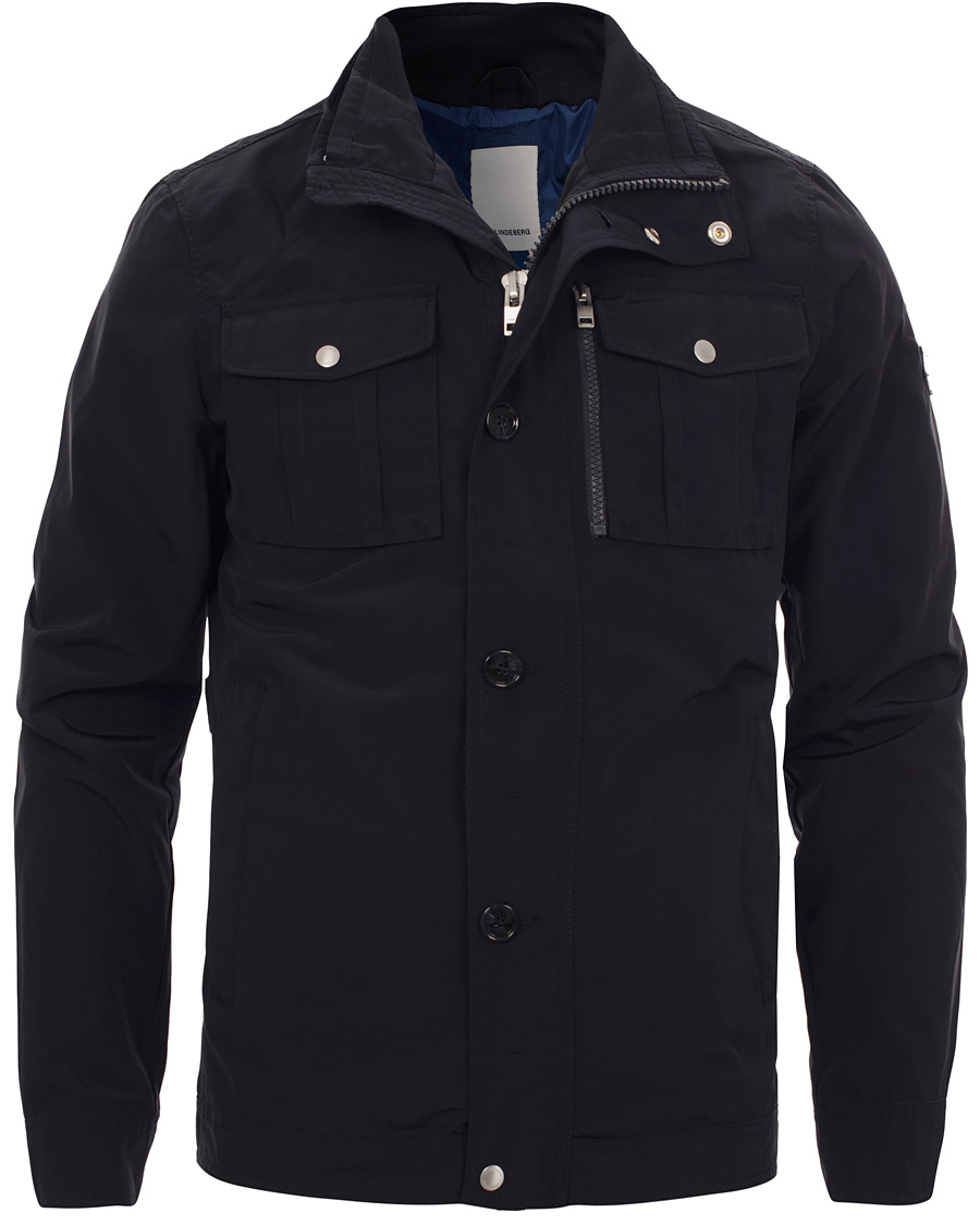 J.Lindeberg Bailey Structured Poly Jacket Dark Navy hos
