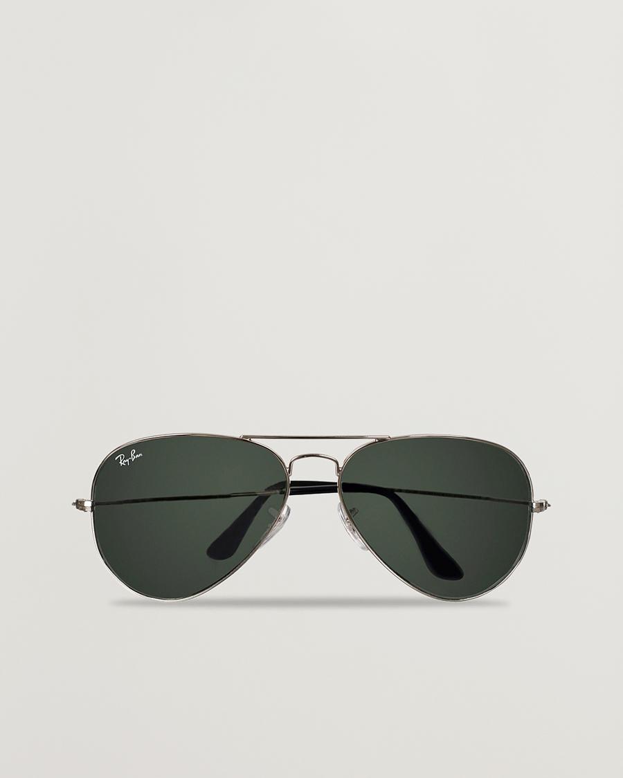Ray Ban Aviator Large Metal Sunglasses SilverGrey Mirror