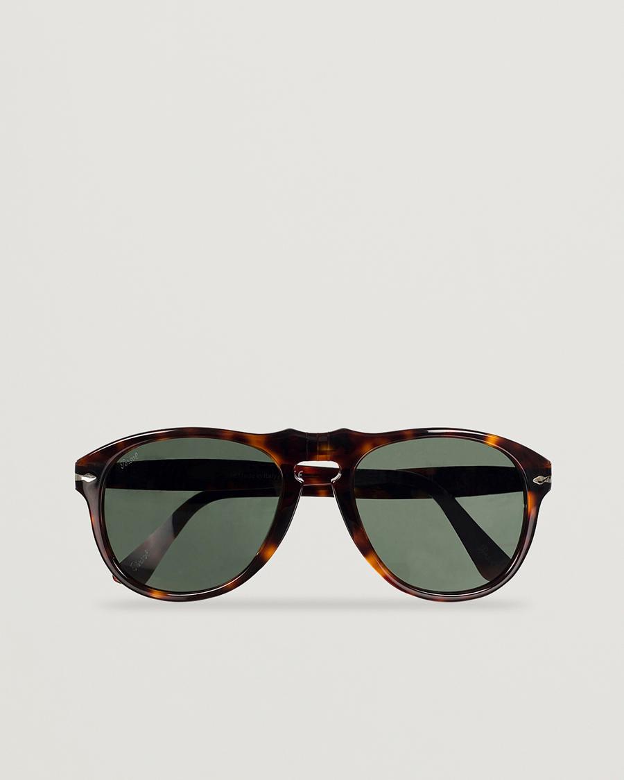 ec4a0fea8aac Persol PO0649 Sunglasses Havana Crystal Green hos CareOfCarl.co