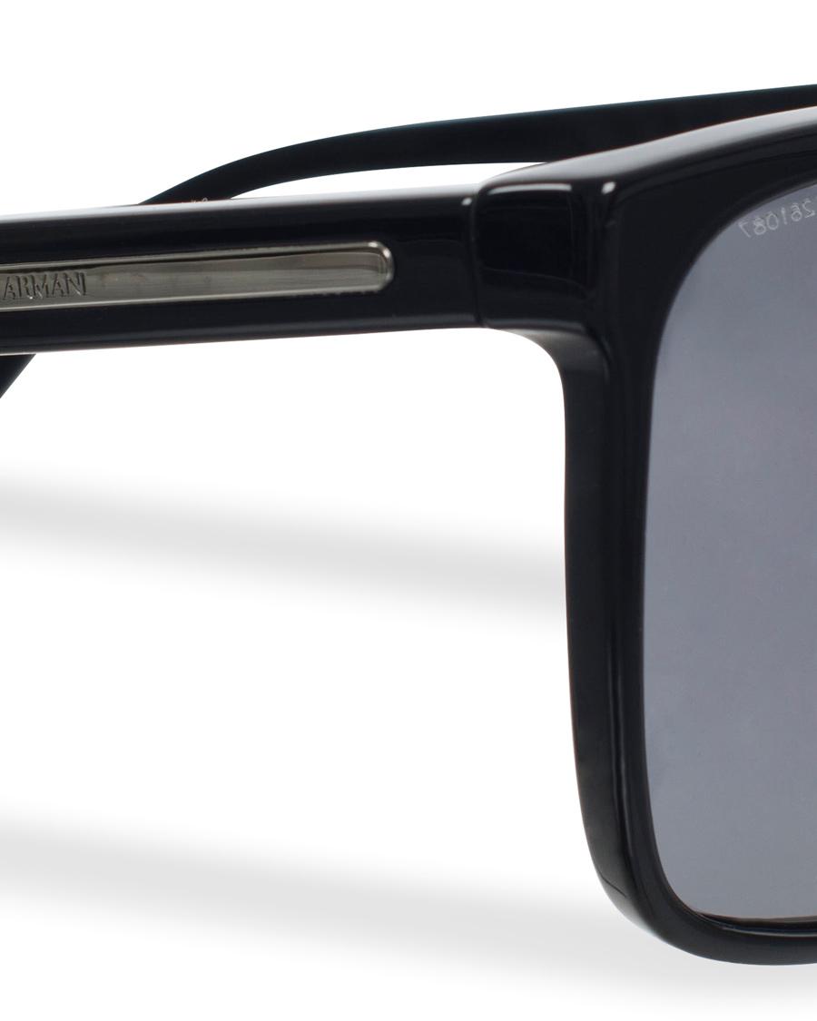 2dbaaec6c53 Giorgio Armani AR8027 Polarized Sunglasses Black Grey hos CareO