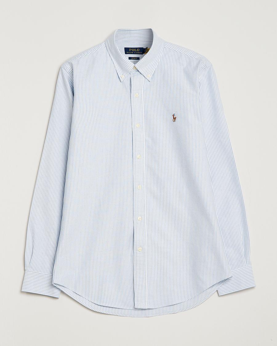 35acb3615f24e Polo Ralph Lauren Core Fit Oxford Shirt Stripe Blue hos CareOfCar
