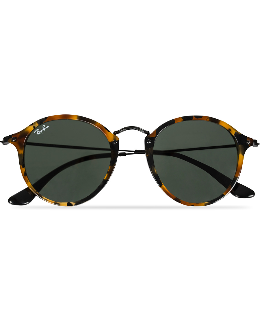 aeb9c3073c Ray-Ban RB2447 Acetat Round Sunglasses Spotted Black Havana Green
