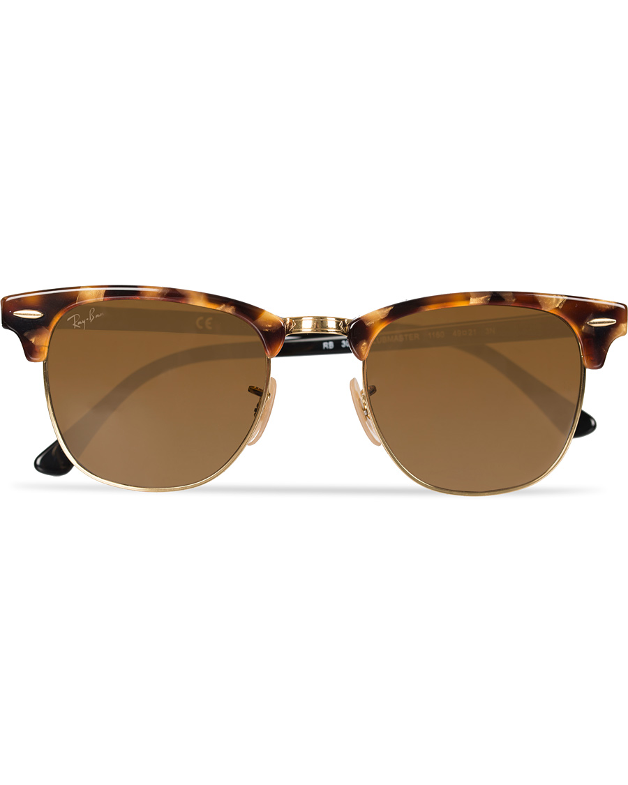 378ec6d2cc Ray-Ban Clubmaster Sunglasses Spotted Brown Havana Brown hos Car