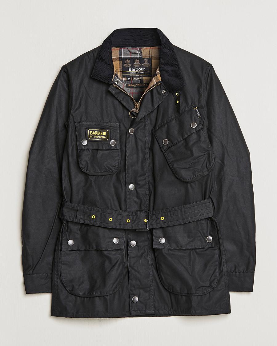 4812a985ac2d Barbour International Slim International Wax Jacket Black hos Car
