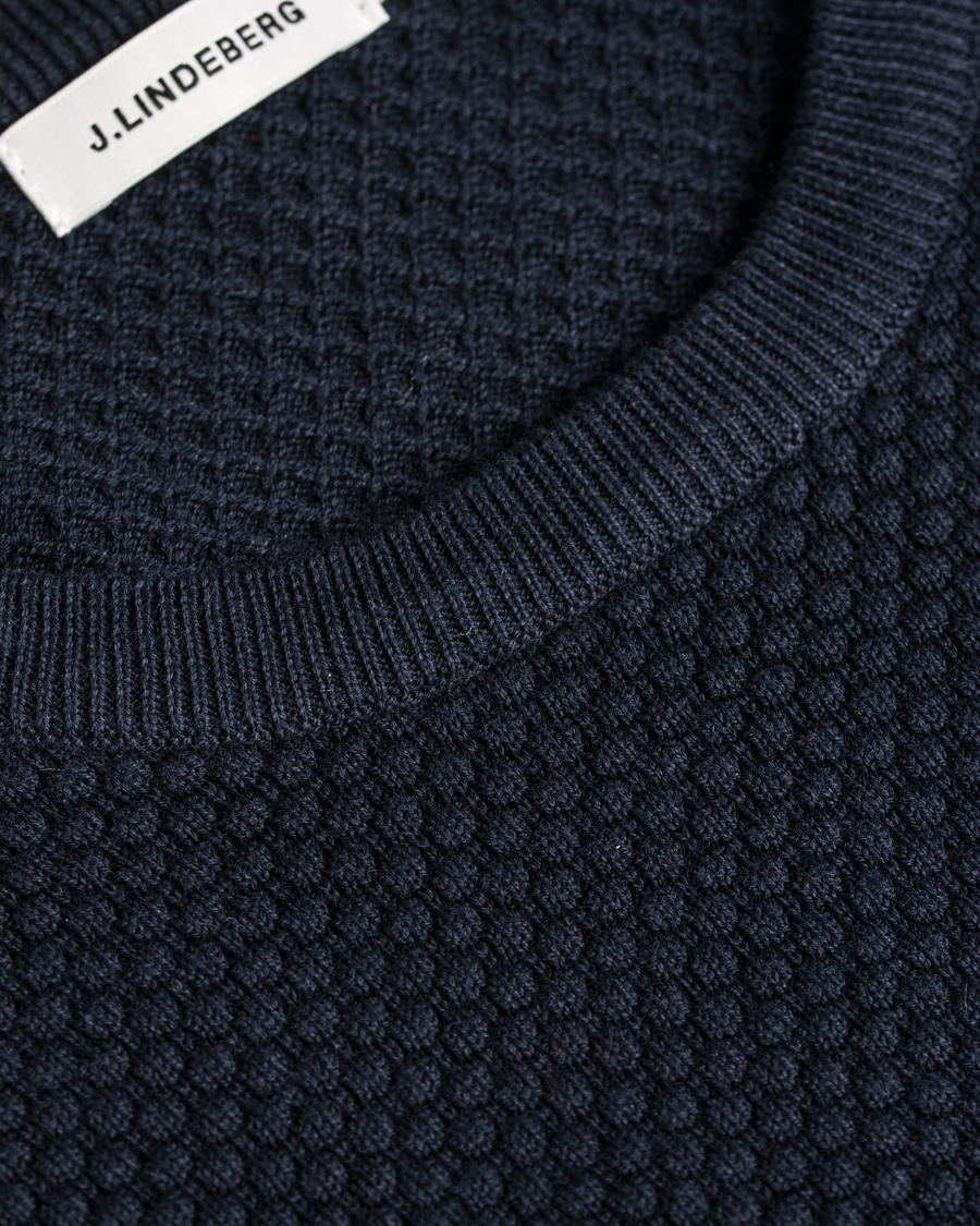 J.Lindeberg Dexter Circle Structure Sweater Navy hos