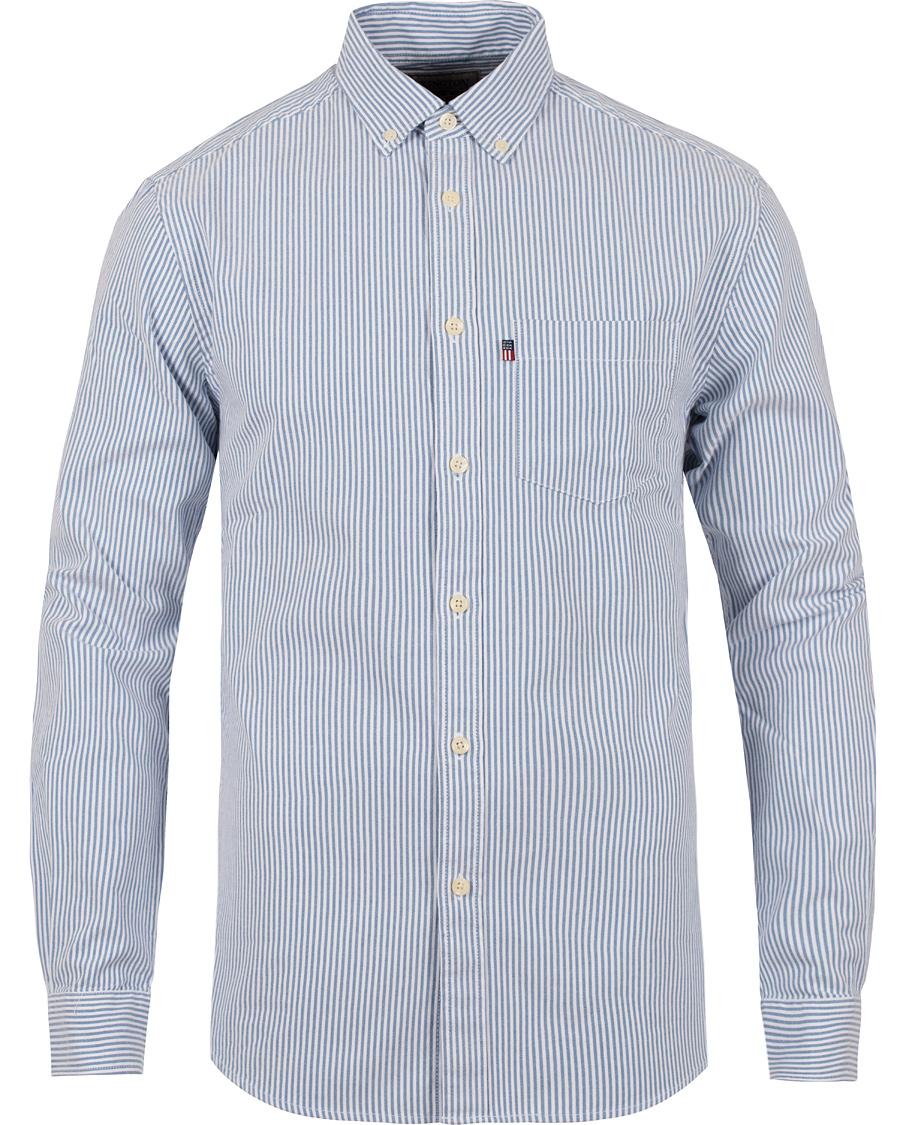 Lexington Kyle Oxford Shirt Blue White Stripe hos CareOfCarl.com 59629d3cc18ff