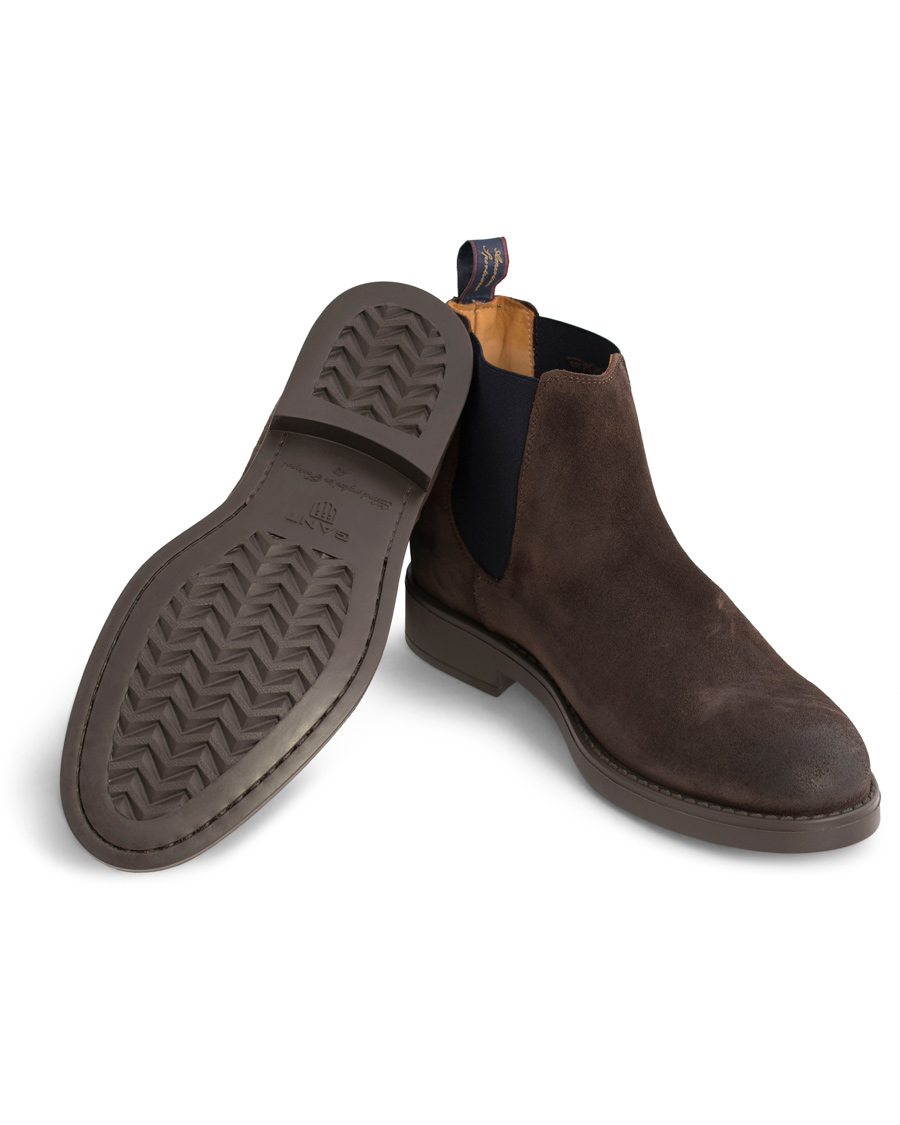 GANT Oscar Chelsea Boot Suede Dark Brown hos