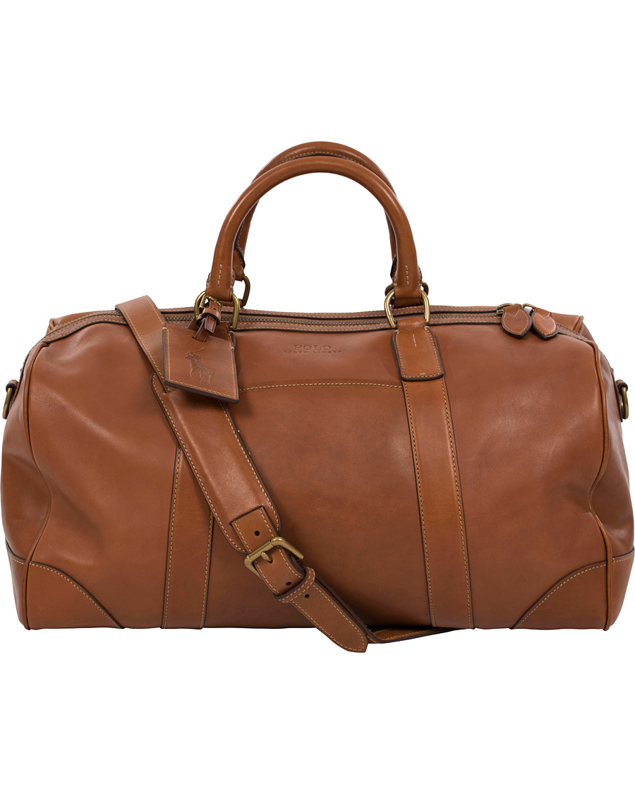 557cb0b867bf Polo Ralph Lauren Leather Duffle Bag Cognac hos CareOfCarl.com