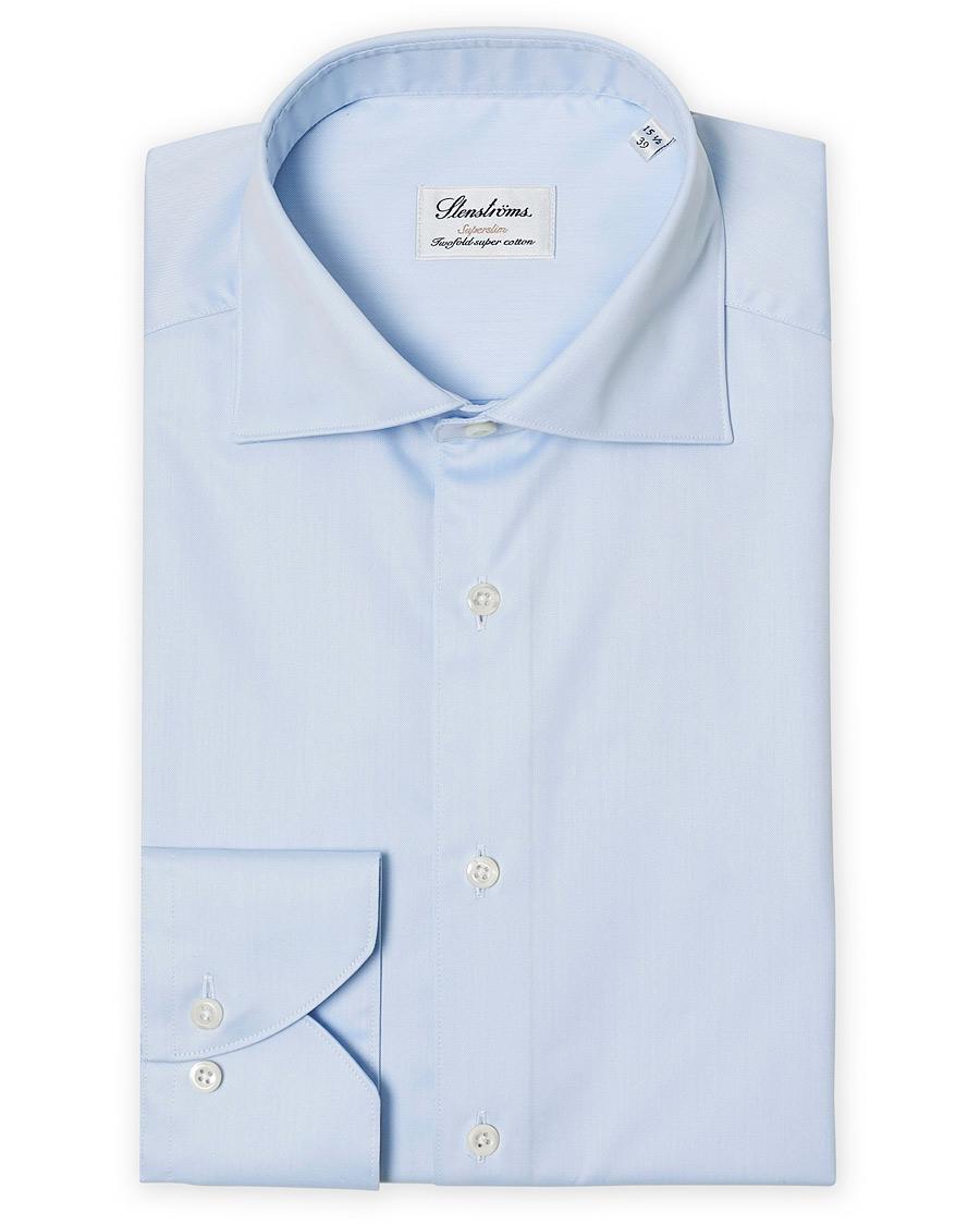 köpa försäljning närmare kl mest populär Stenströms Superslim Plain Shirt Blue hos CareOfCarl.com