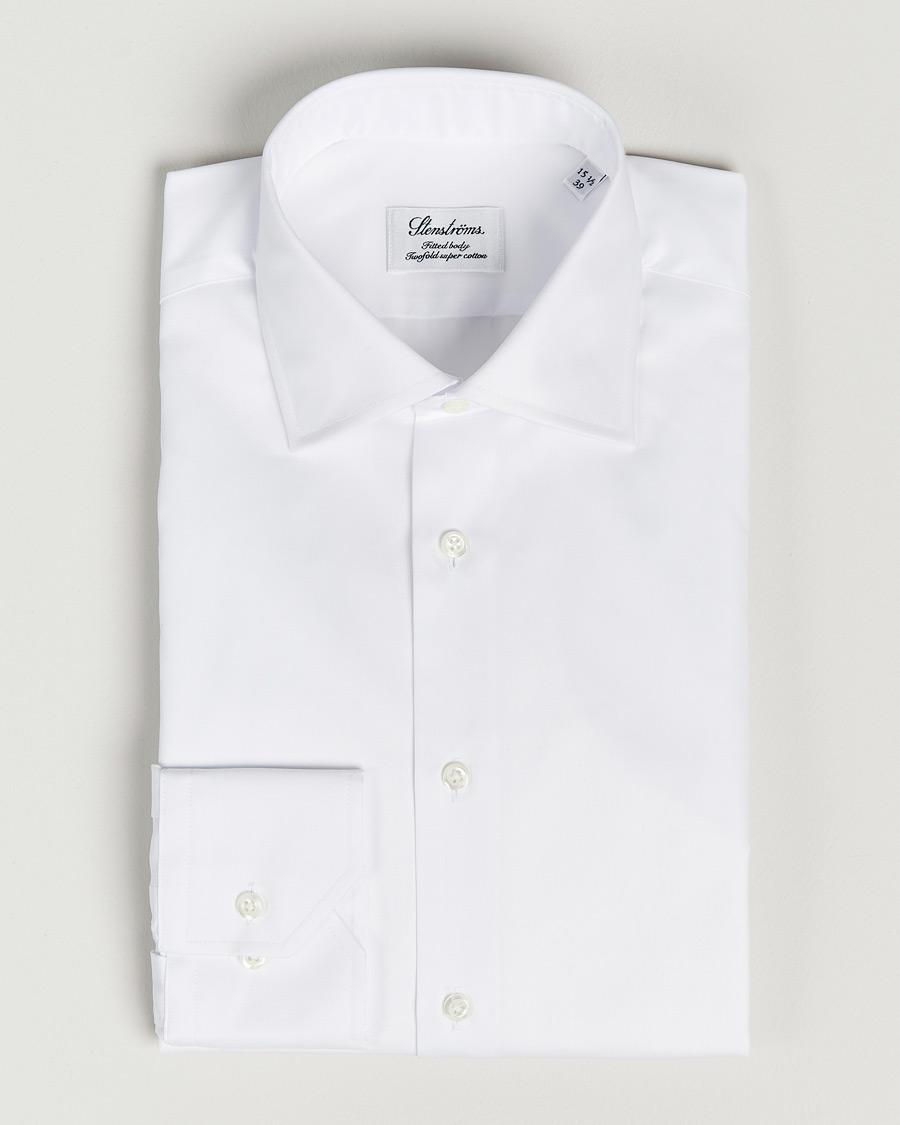 Stenströms Fitted Body Shirt White hos CareOfCarl.com 7b442304cf035