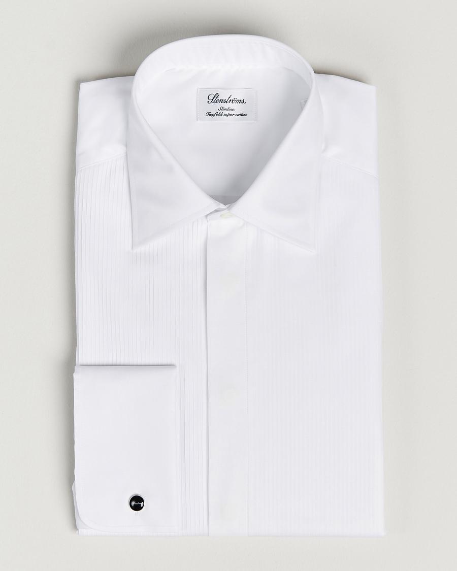 gratis frakt mode köp bra Stenströms Slimline Smoking Shirt White hos CareOfCarl.com