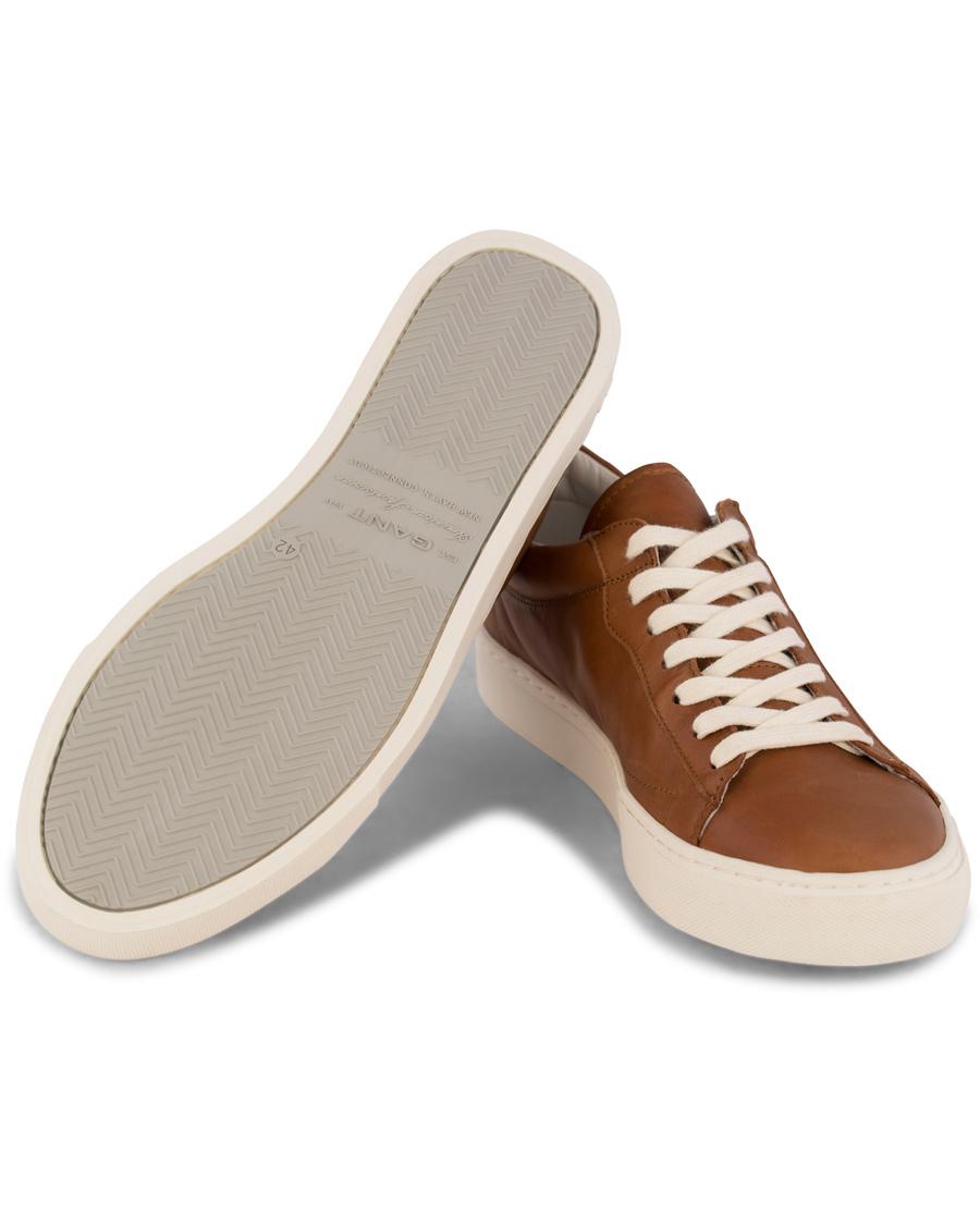 0091e880ca3576 GANT Bryant Leather Sneaker Cognac hos CareOfCarl.com